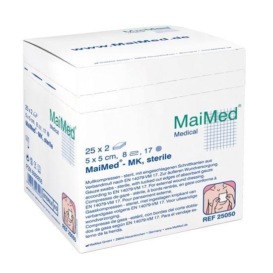 MaiMed Kompressen (steril), 7,5x7,5cm, 25x2 Stück