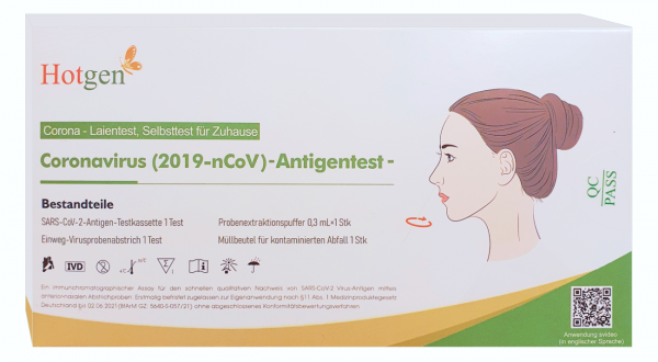 Hotgen Coronavirus Antigentest