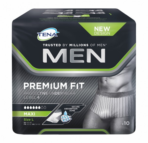 Tena Men Level 4 Protective Underwear L, 10 Stück