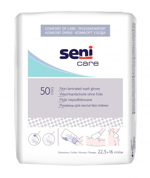 Seni Care Waschhandschuhe, 50 Stück