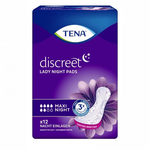Tena Lady Discreet Maxi Night, 72 Stück